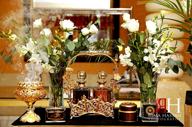 Grand_Hyatt_Dubai_Wedding_Female_Photographer_Rima_Hassan_kosha_stage_decoration_oud_perfume_table