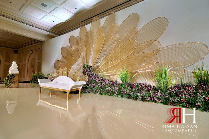 Palazzo_Versace_Wedding_Dubai_Female_Photographer_Rima_Hassan_stage_kosha_decoration_peacock