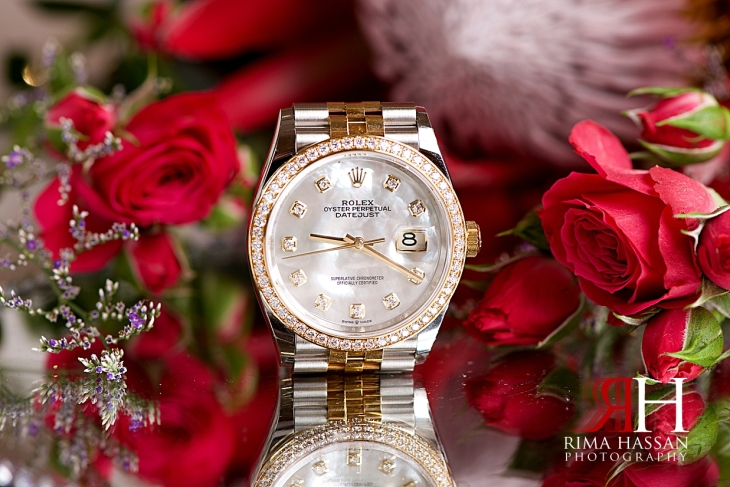 Grand_Hyatt_Dubai_Wedding_Female_Photographer_Rima_Hassan_bride_jewelry_watch_rolex